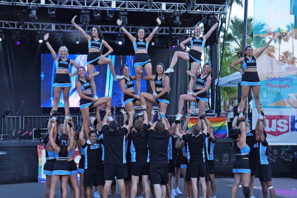 Palm Springs Pride 2016   Cheer LA smaller